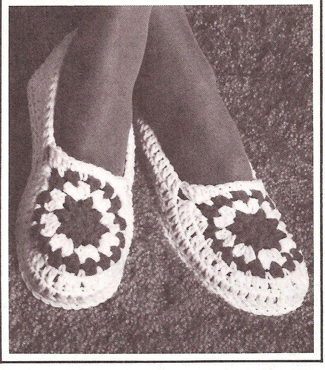 Free Crochet Slipper Patterns | CROCHET GRANNY SQUARE SLIPPERS ...