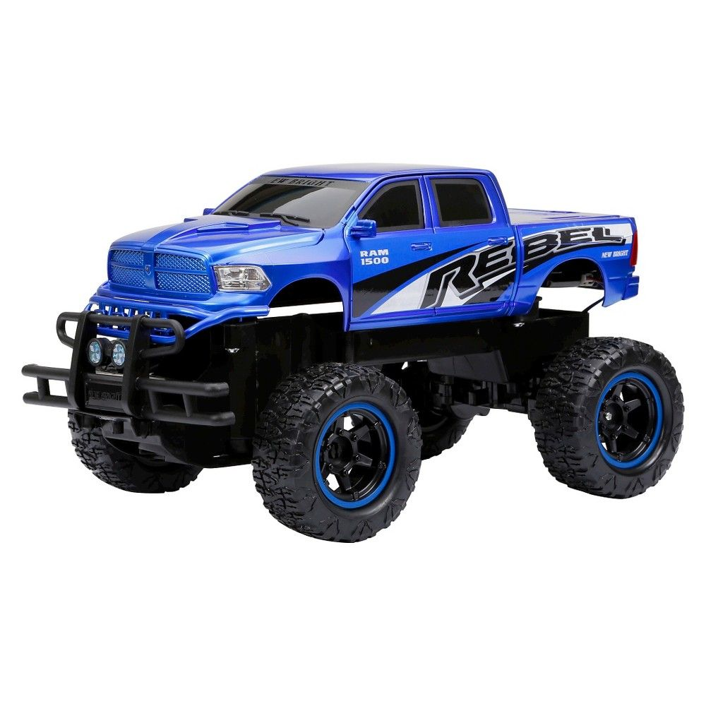 1:14 Radio Control Full Function 6.4v Wheelie Truck Ram Rebel,