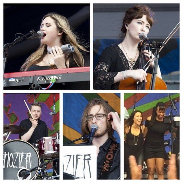 The band of Hozier :D Mia, Alana, Rory, Alex, Rachael, and Lorraine <3