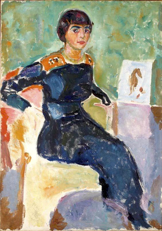 Portrait of Elsa Glaser by Edvard Munch (Norwegian 1863–1944)