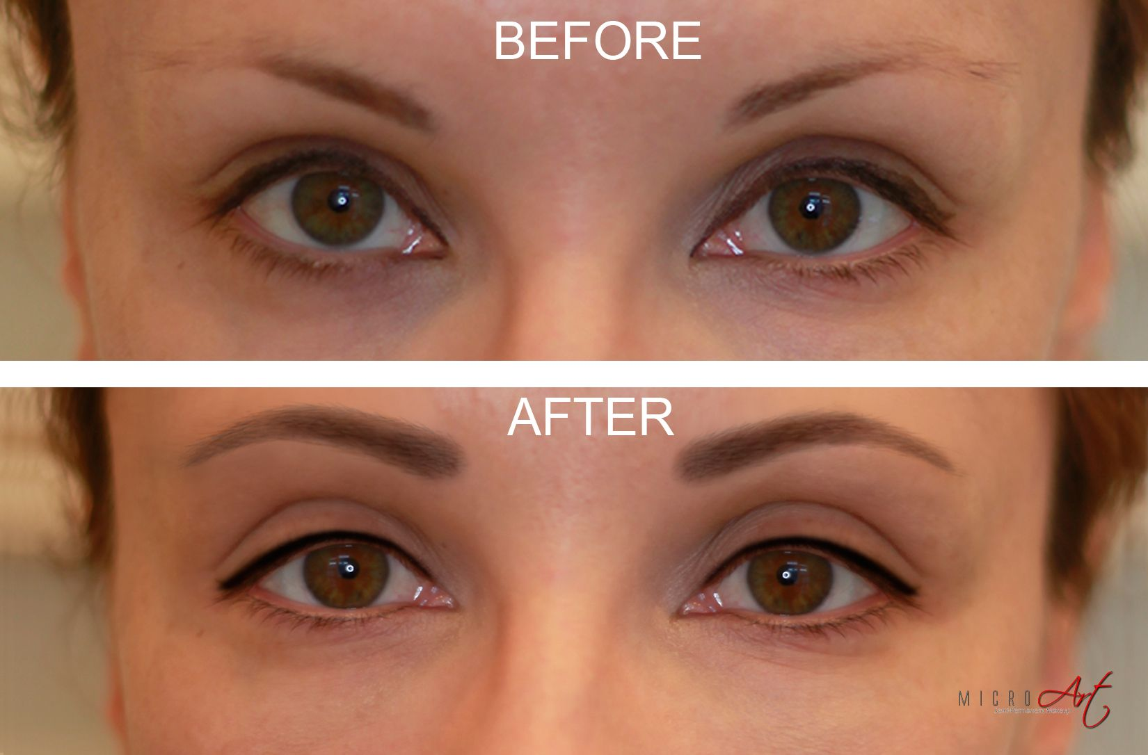 3D Eyebrows & Eyeliner by MicroArt Semi Permanent Makeup