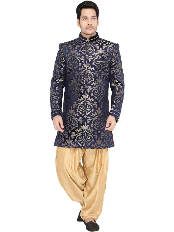 Indowestern For Men Online | Indo Western Kurta With Patiala ...