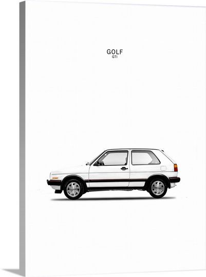 Golf GTI Mk2 White | Framed prints, Canvases and Prints