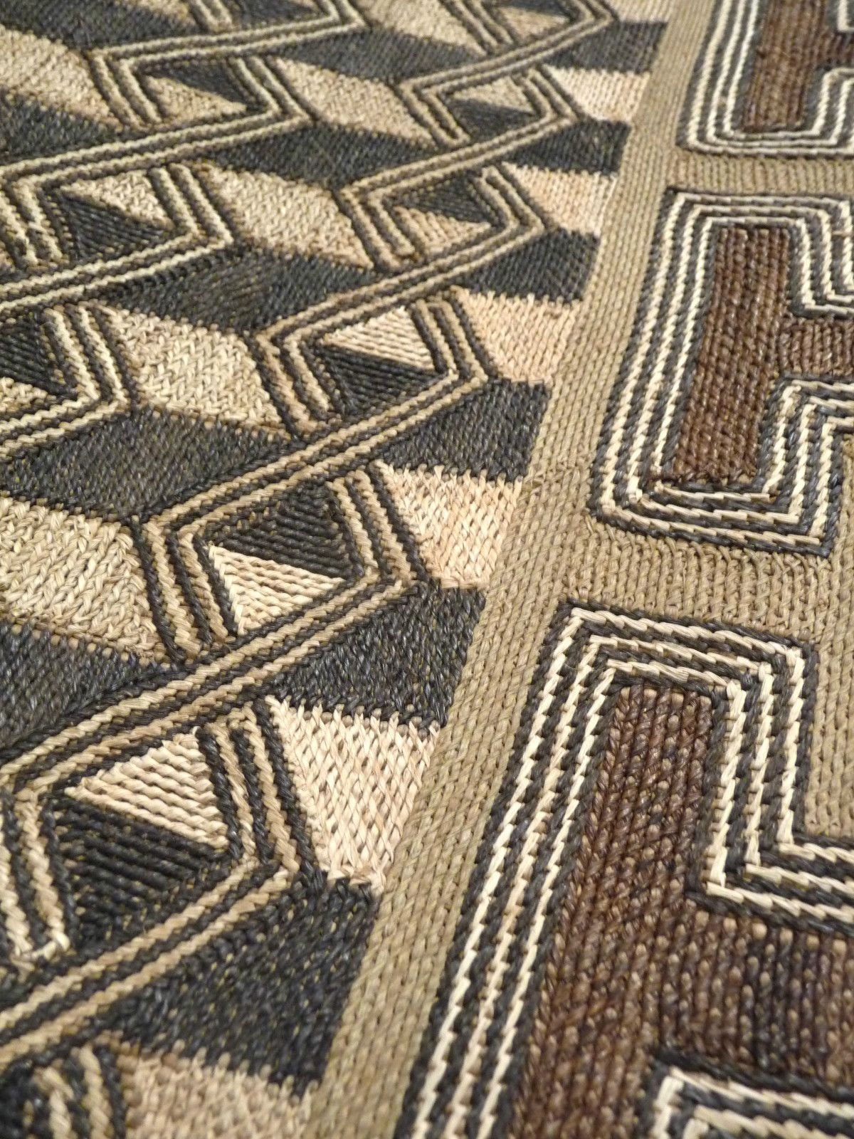 Africa | Kuba Raffia Cloth Detail - Bushoong - Mid 20th century – DR Congo