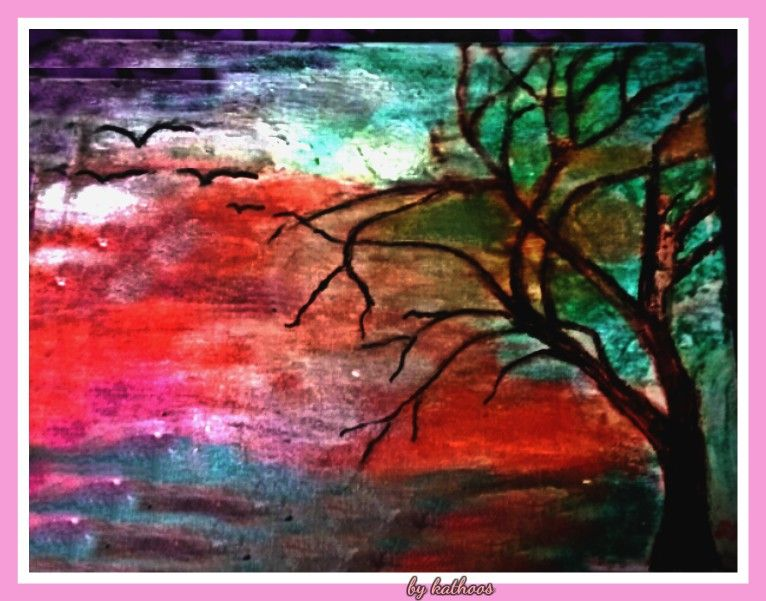 an acrylic paint