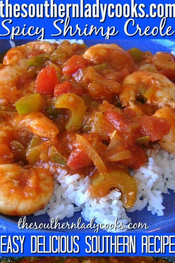 Photo of Shrimp Creole – The Southern Lady Cooks – Great Southern Recipe