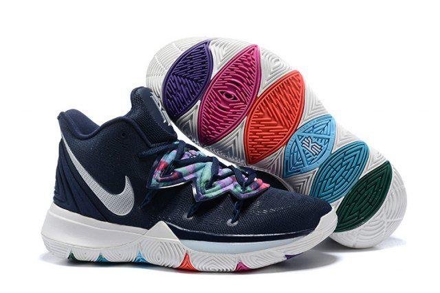Nike Kyrie 5 Multi ColorMetallic Silver AO2918 900 Men's