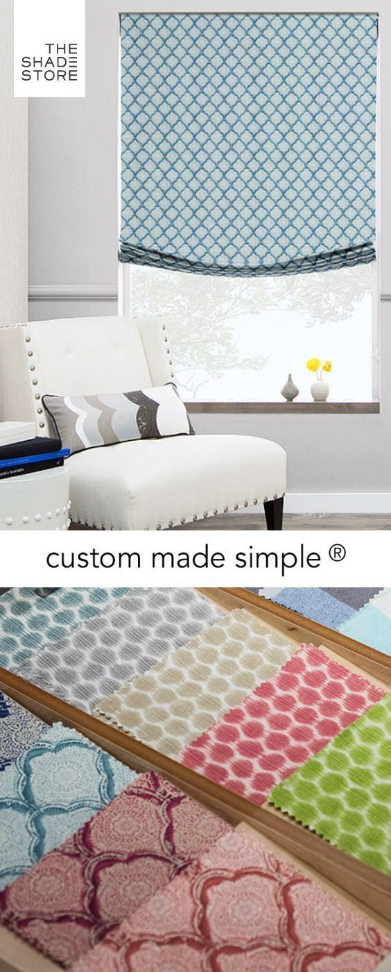 Custom Made Simple - Roman Shade - Sanganer | Mai Style: Well Said ...