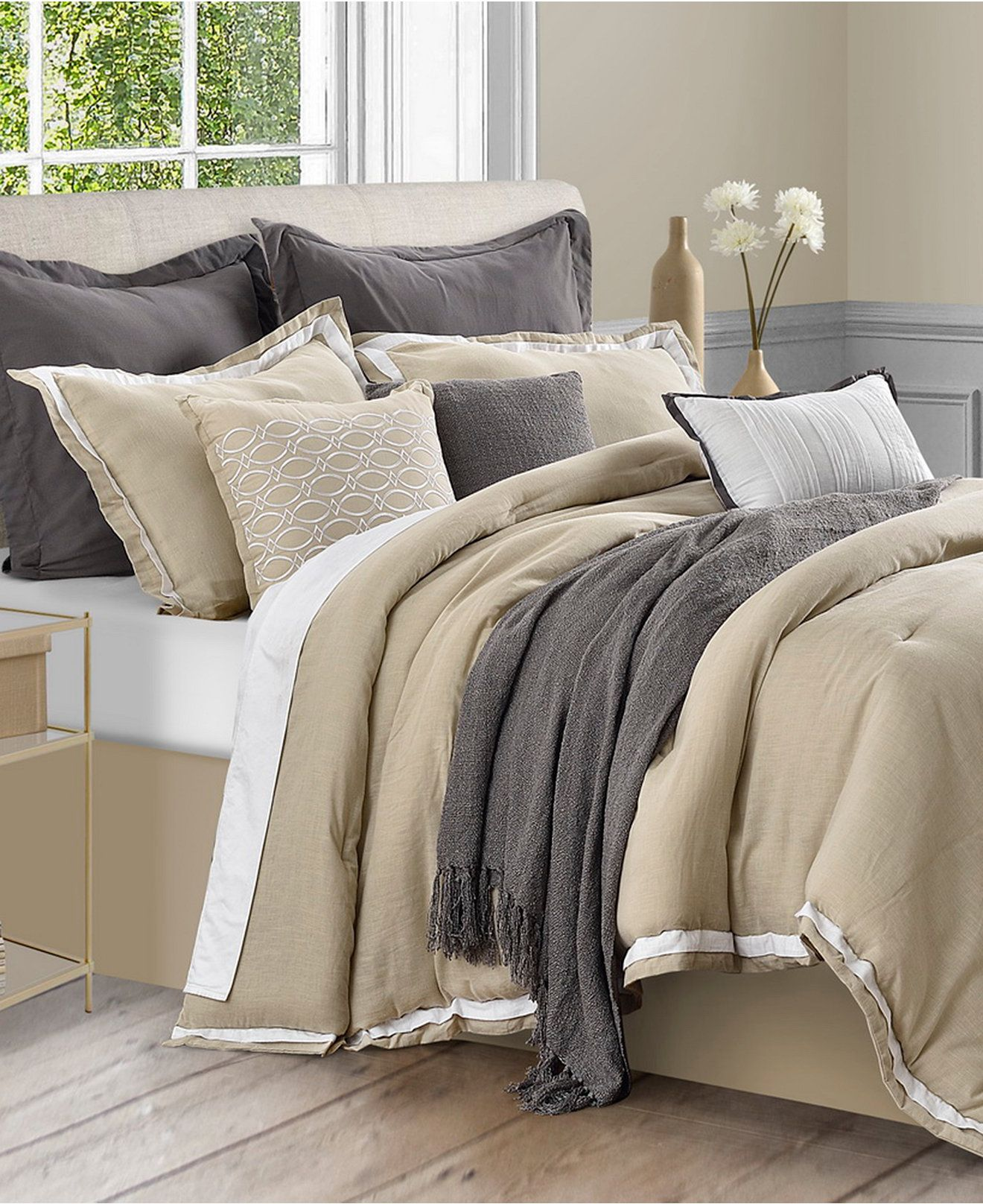 bedspread sets bed queen grey linens white ruffle ruffled comforter bedroom linen category bedding set