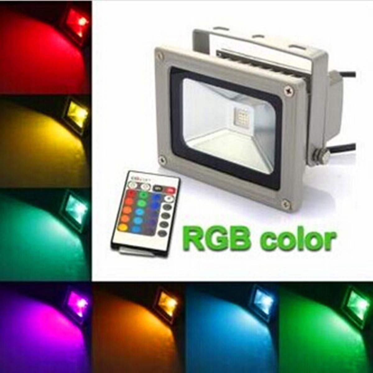 10w Rgb Colorful Changing Led Flood Wash Wall Mount Spot Light 900lm Us 13 17 Led Flood Lights Led Flood Flood Lights