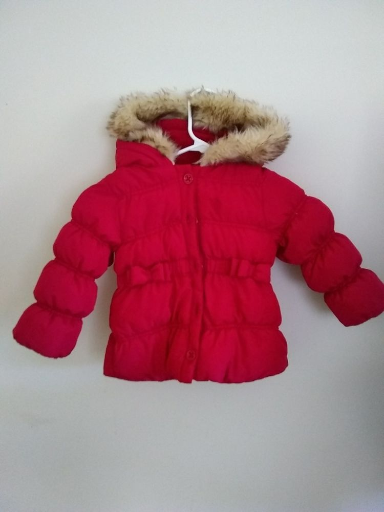 177f229bf Gymboree Red coat Puffer Hooded Winter Jacket toddler Girl2T-3T ...
