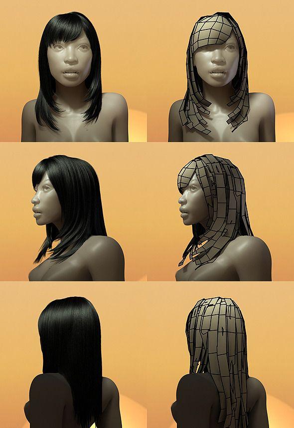 Resultado De Imagen Para Maya Hair 3d Model 3d Pinterest