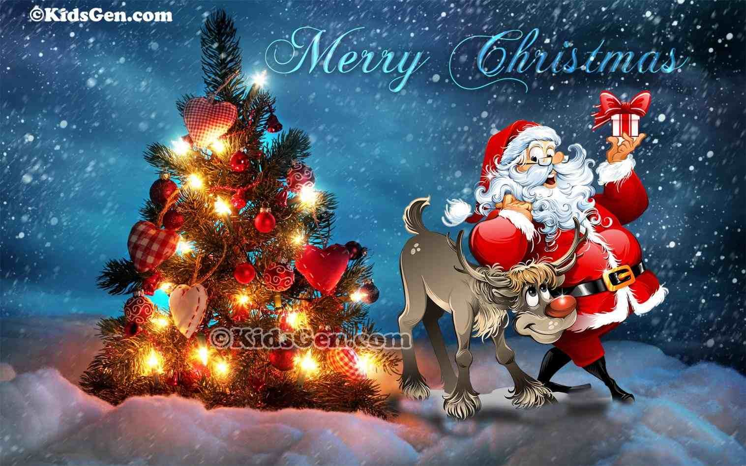 New Post Pretty Merry Christmas Wallpaper With Santa