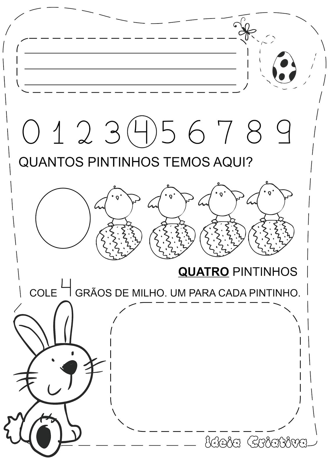 Famosos Caderno de Atividades Páscoa Grátis - Pascoalino e os Numerais  KS73