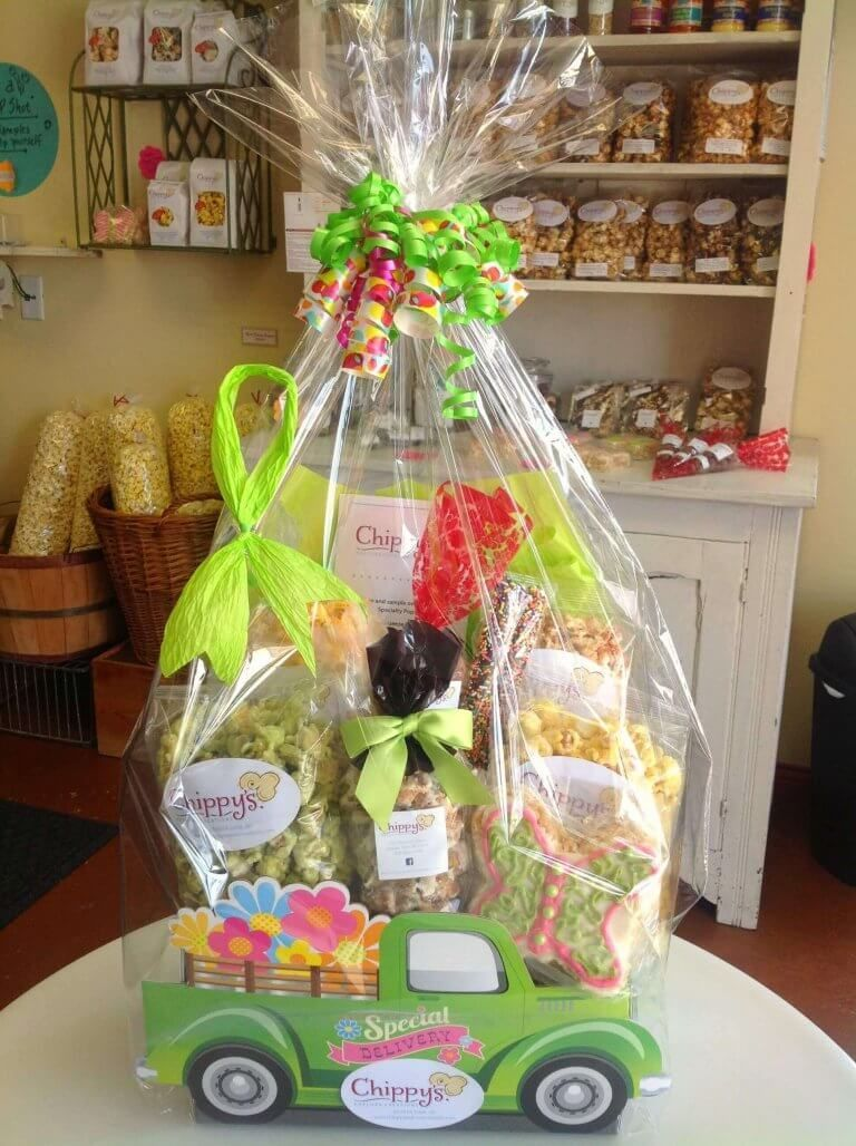 Themed Gift Basket Boxes Make Chippy's Popcorn POP! – Yx9 Search