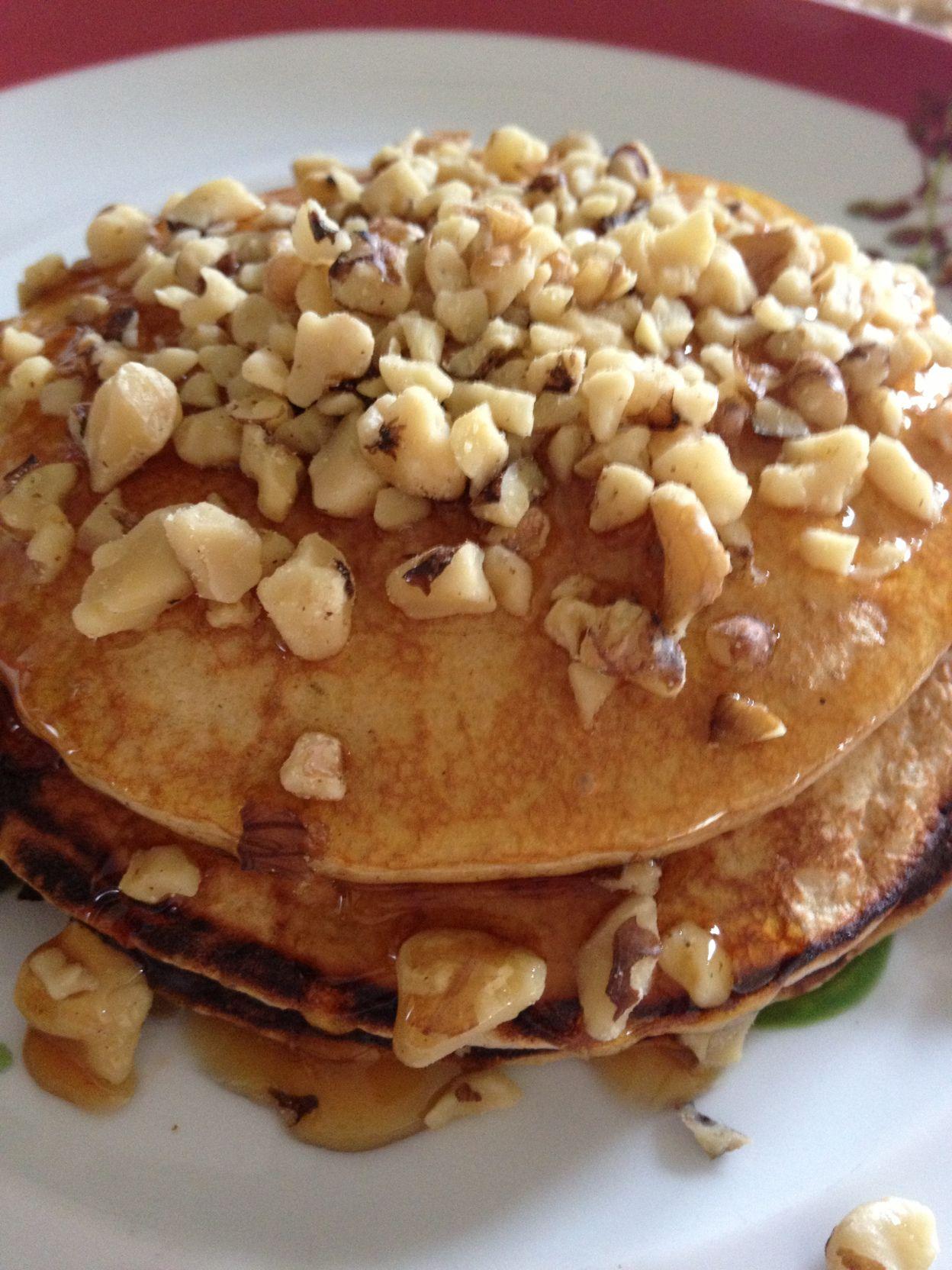 Receta Panquecas De Avena Y Claras De Huevo Food Healthy Recipes Breakfast