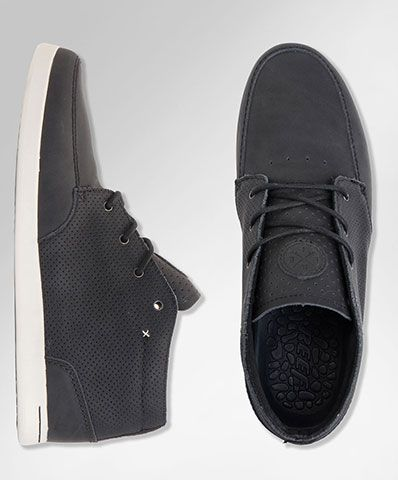 Reef - Casual black leather shoes A
