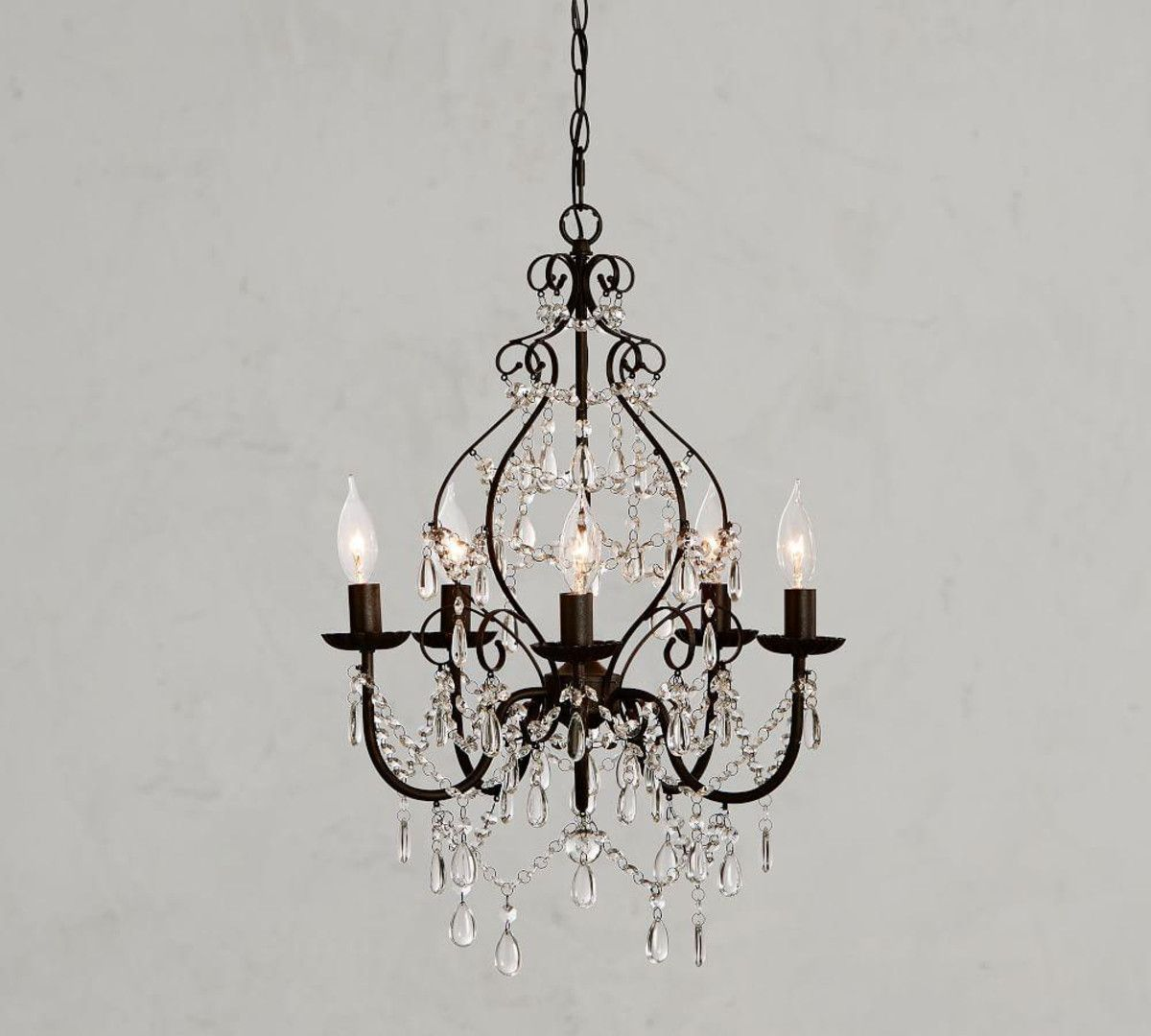 Paige Crystal Chandelier With Images Chandelier Decor