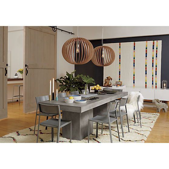 Fuze Grey Dining Table Backyard Pinterest Grey Dining Tables - Cb2 concrete table