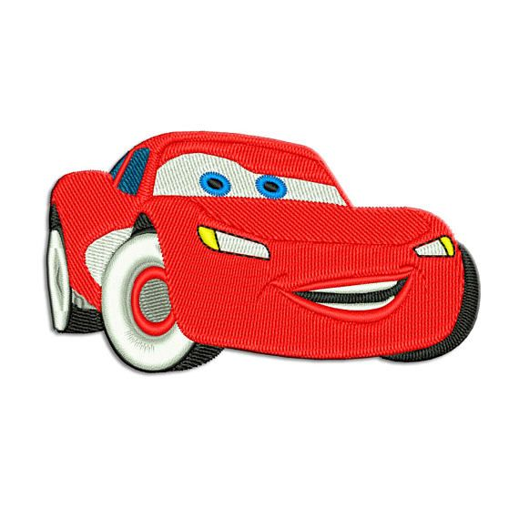 Based On Cars Story Lightning Mcqueen Embroidery Design