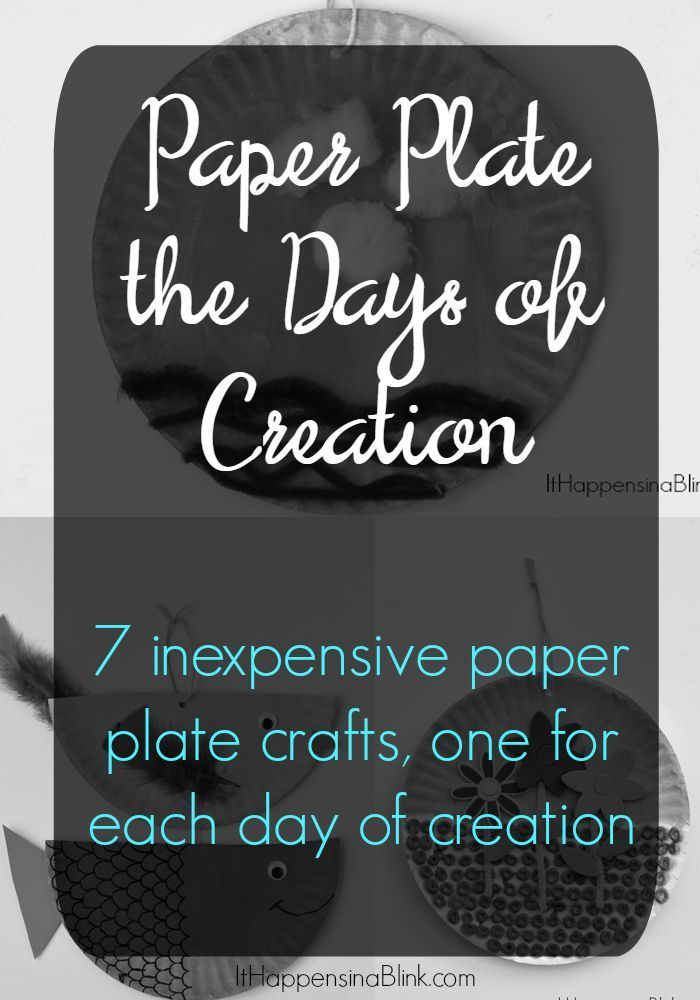 Paper Plate the Days of Creation | 7 inexpensive paper plate crafts one for each day of creation. Kidu0027s crafts for VBS Sunday School Childrenu0027s Church ...  sc 1 st  Pinterest & Paper Plate the Days of Creation | 7 inexpensive paper plate crafts ...