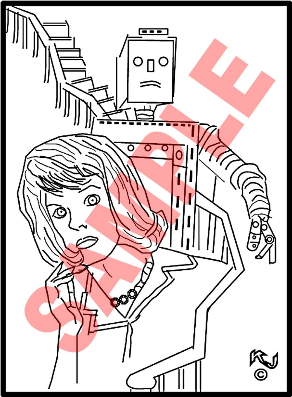 adult colouring pages rocky horror a robot chase from the new horror mystery and science fiction series of adult