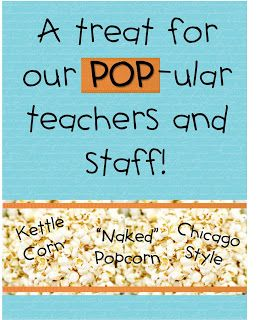 graphic regarding Free Printable Teacher Appreciation Quotes named Instructor Appreciation - Absolutely free printable toward transfer with popcorn bar