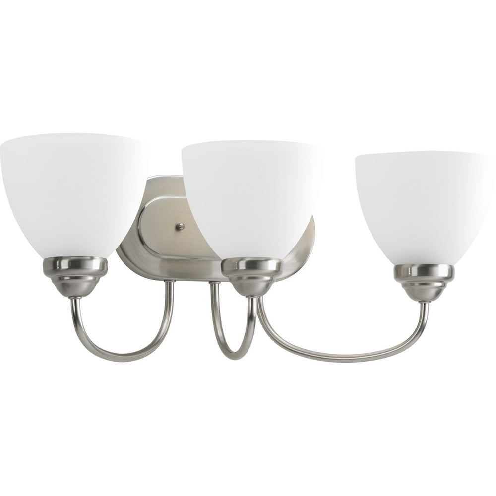 Photo of Progress Lighting Silvertone Heart Collection 3-light bathroom lamp made of brushed nickel – N / A (Heart Collection 3-light bathroom lamp made of brushed nickel), gray