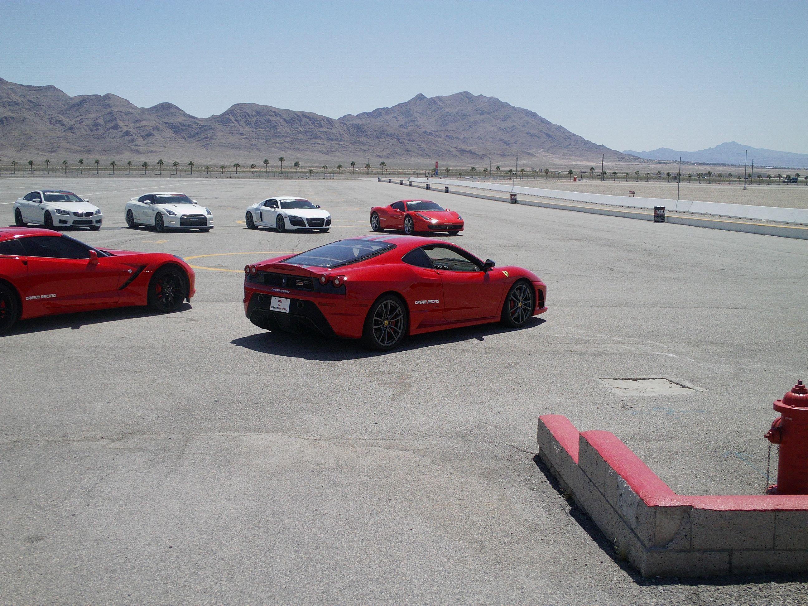 Exotic car experience at Las Vegas Speedway