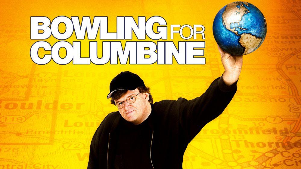Bowling for Columbine (titulada Bowling for Columbine: Un país en armas en Argentina y Masacre en Columbine en México) es una película docu...