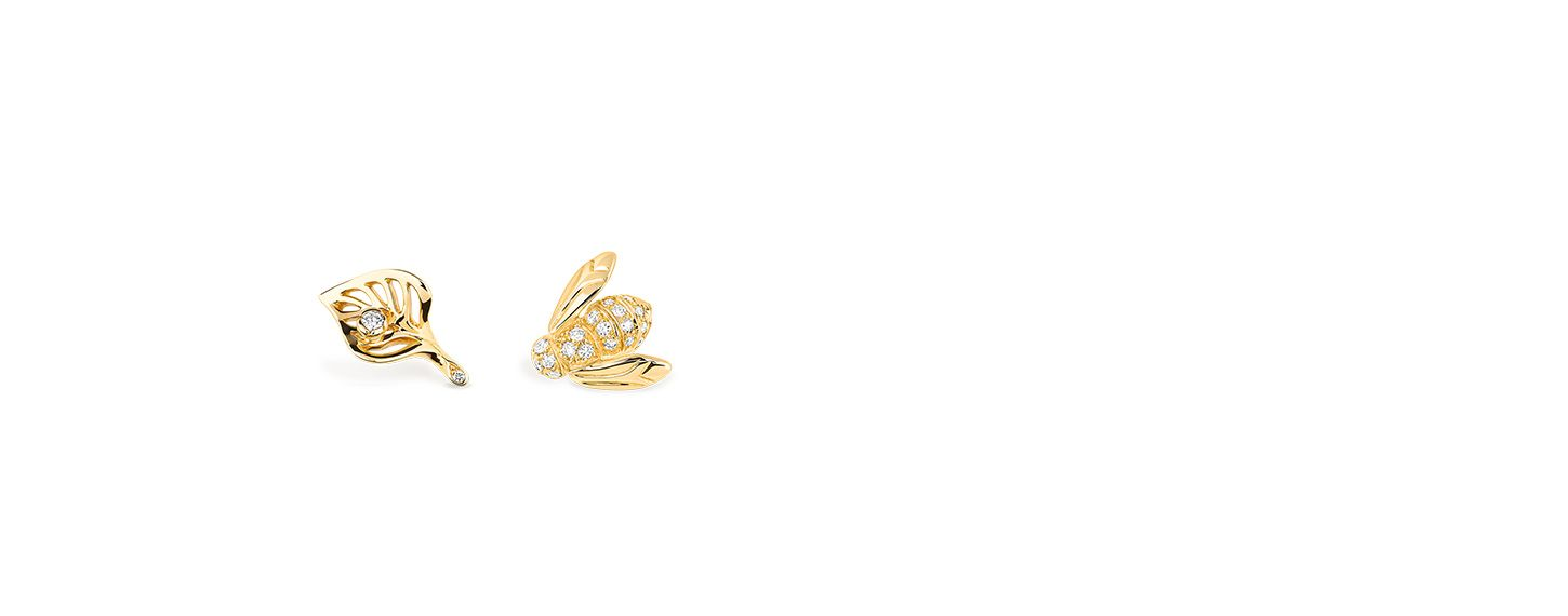 f0c817c9df Rose dior pré catelan earrings in 18k yellow gold and diamonds ...