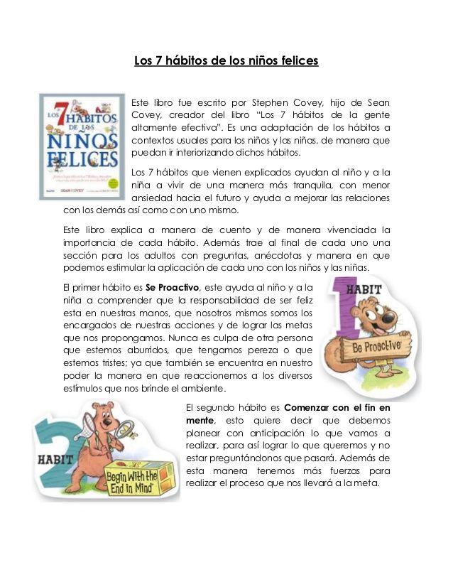 los 7 habitos de los niños altamente felices pdf