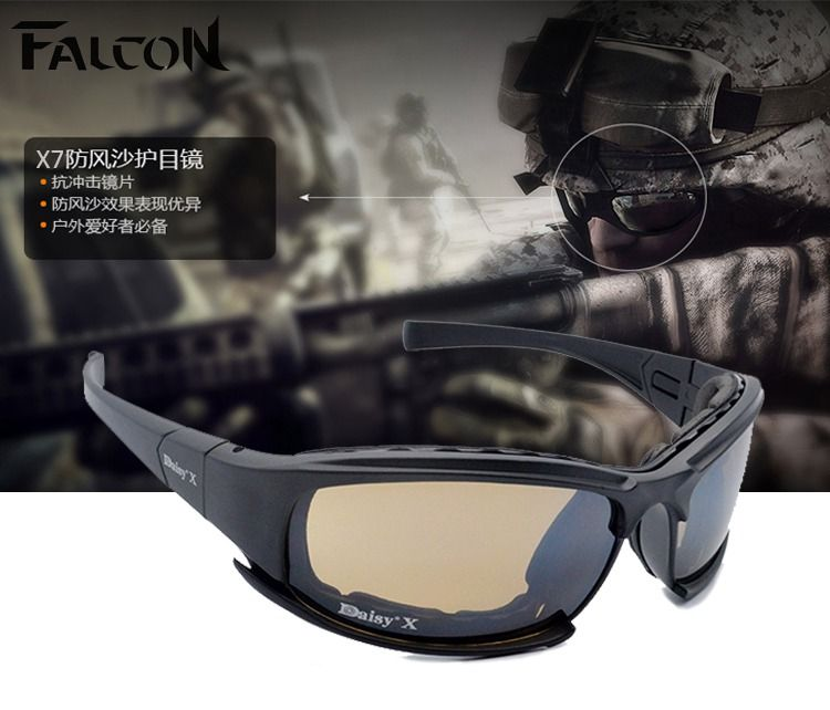 76e889d155 Tactical daisy X7 Glasses Military Goggles Bullet-proof Army Sunglasses  With 4 Lens Original Box Men Shooting Eyewear Gafas   clothing