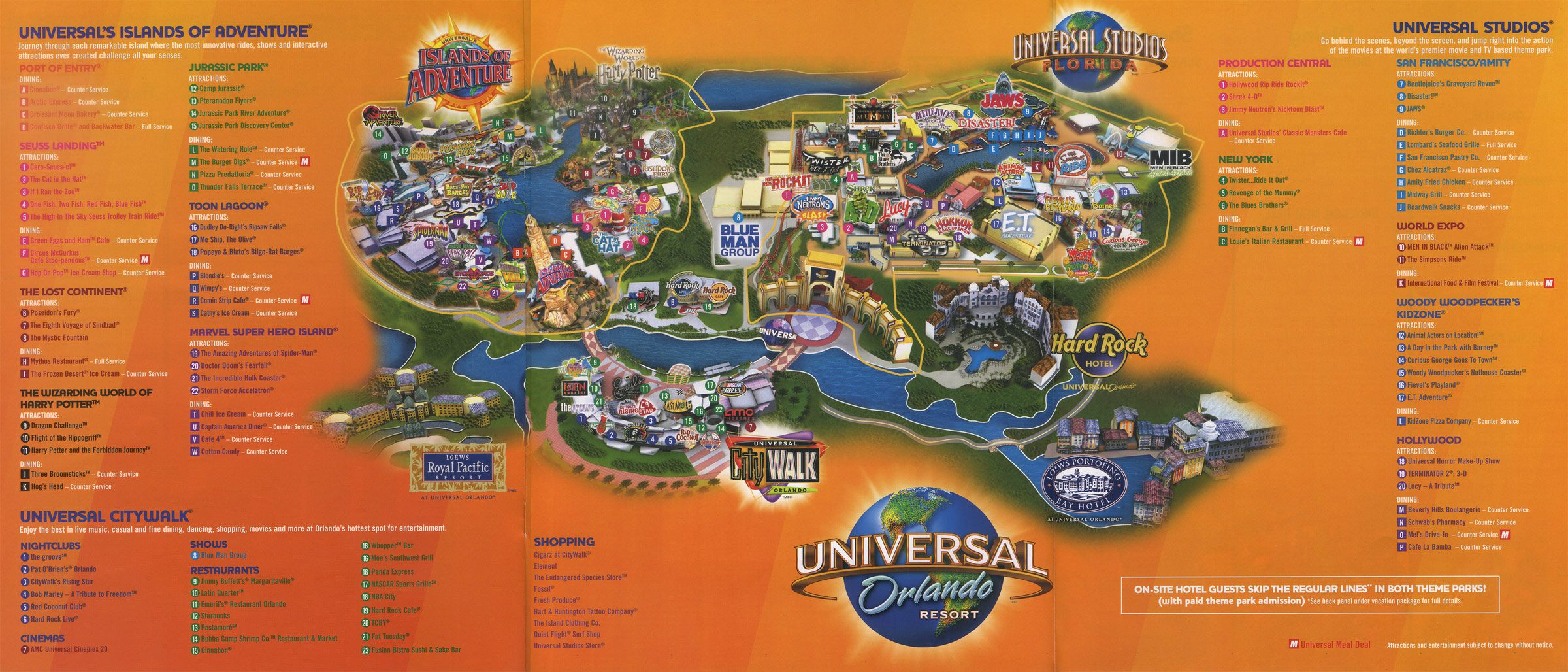 Universal Orlando Resort 2011 Map