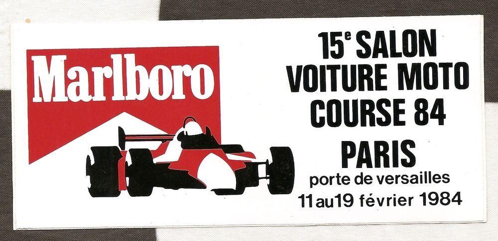 Original Marlboro Paris Racing Car Show Original Period Sticker - Car show stickers
