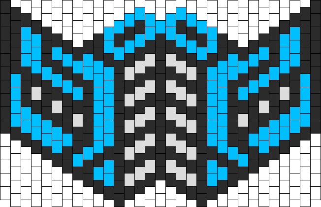 Mortal Kombat Sub Zero Kandi Mask Rave Pinterest Kandi Kandi Simple Kandi Mask Patterns