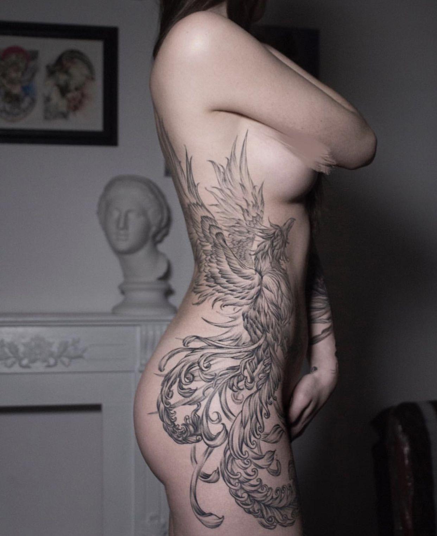 Whip Shading Phoenix Tattoo Full Body Full Body Tattoo Full
