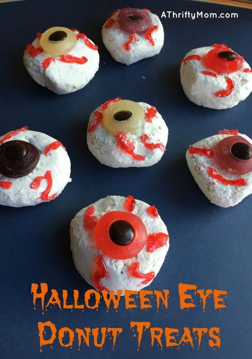 halloween eye donut snacks donuts halloween treats snacks halloween treats - Halloween Desserts For Parties