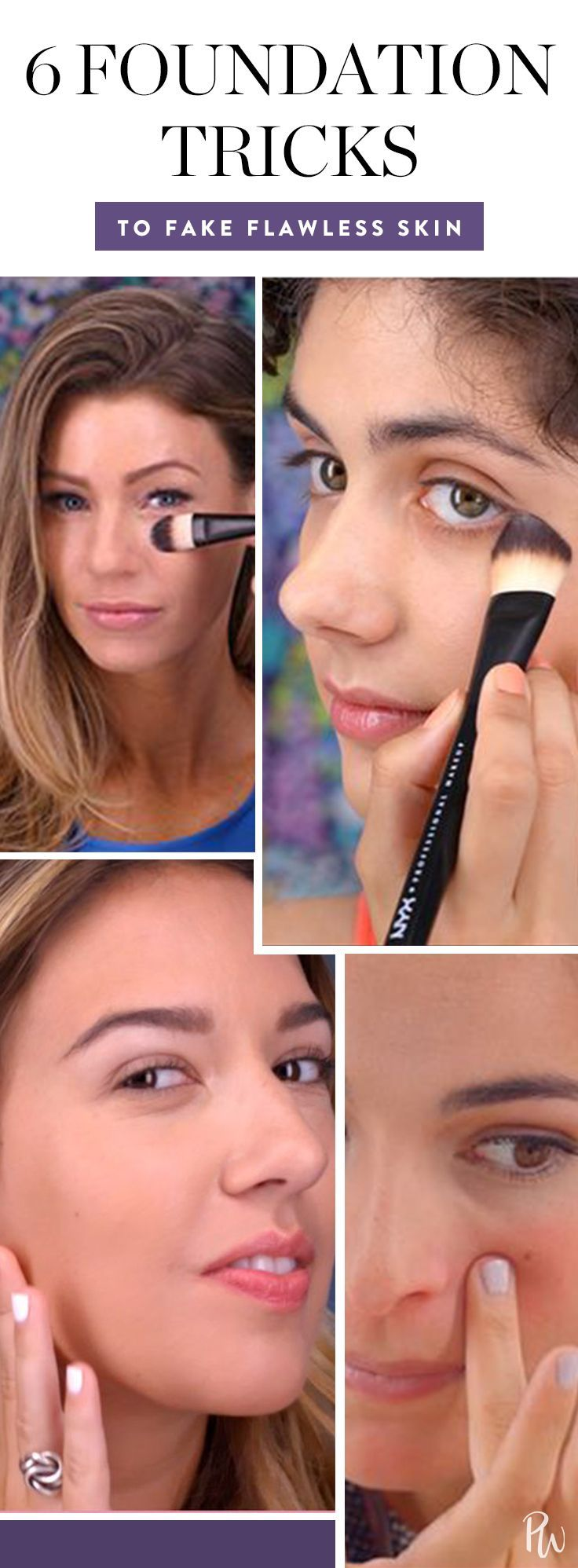 Photo of These 6 foundation tips will make it easier than ever to fake flawless skin. Get…