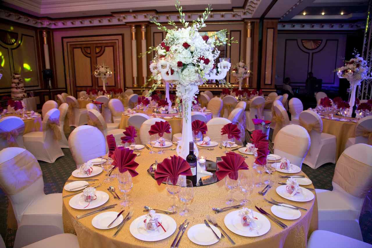 Red Wedding Theme Aghareed Weddings Planner Set Up Ceremony Reception