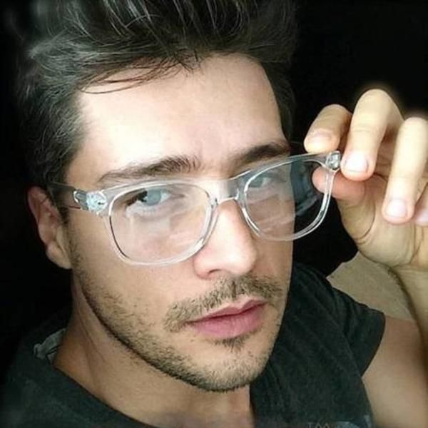d666bbbac0b6 2019 Fashion Transparent Eyeglasses frame Men Optical Glasses Frame  Spectacle Women clear Retro Myopia Nerd Eye Glasses