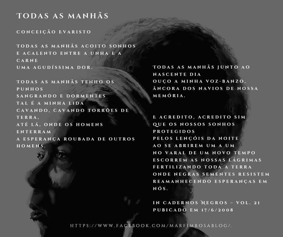 Quintapoetica Conceicao Evaristo Todas As Manhas Album Https