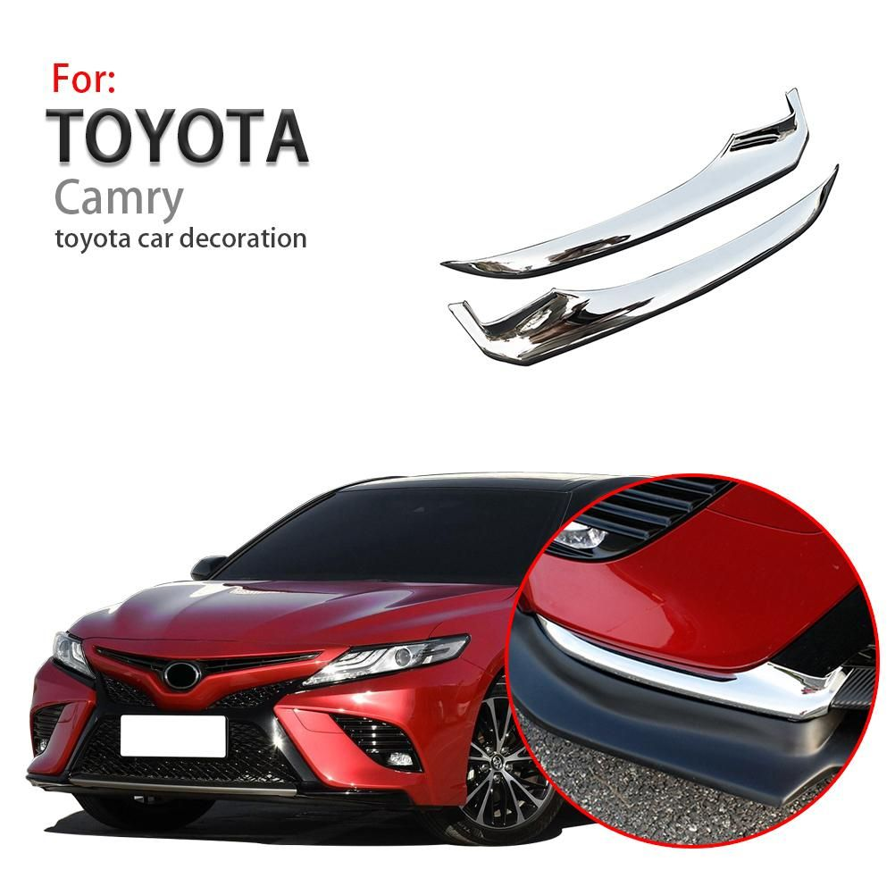 For 2018 Toyota Camry stainless steel rear bumper rear lip cover trim 2Pcs