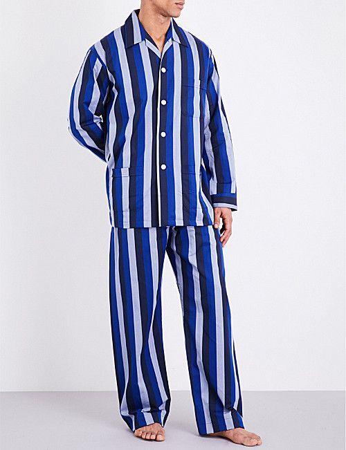 62257a8749 DEREK ROSE Striped cotton pyjama set. DEREK ROSE Striped cotton pyjama set  Mens Sleepwear ...