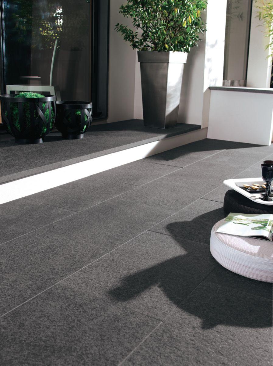 Dalle Sol Exterieur Granit Gris G654 40x60 Cm Ep 3 Cm Lot