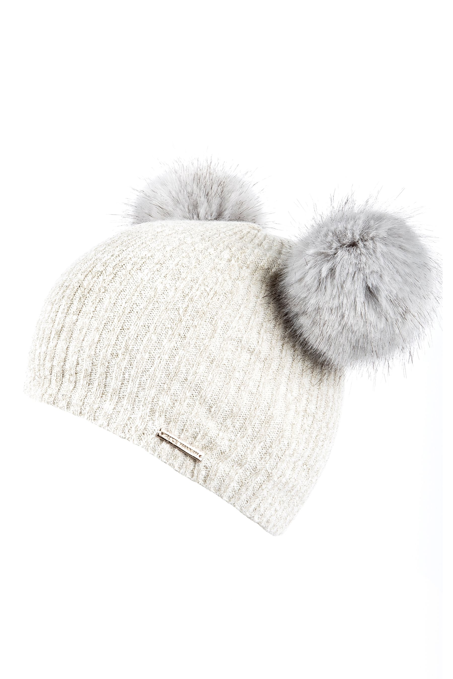 93091451200e10 Womens Alice Hannah Double Faux Fur Pom Beanie - Cream | Products ...