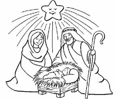 Dibujos para colorear del nacimiento de Jess  Navidad