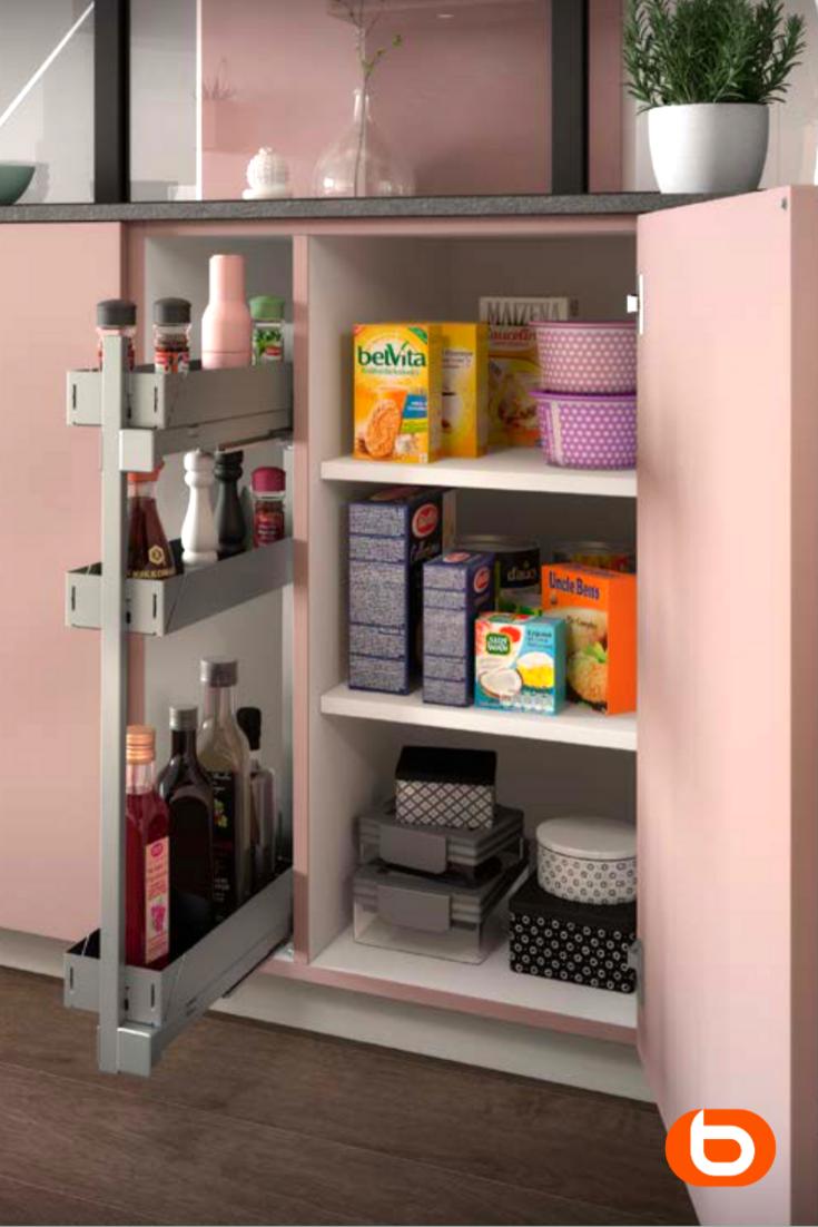 Meuble de cuisine bas coulissant + étagères en 13  Rangement
