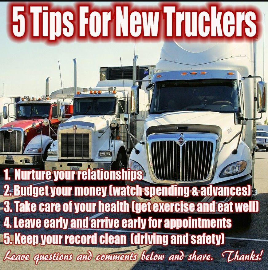 5 Tips for new truckers Truck driving jobs, Trucks
