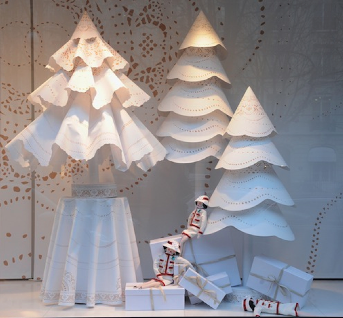 doily or decorative paper trees